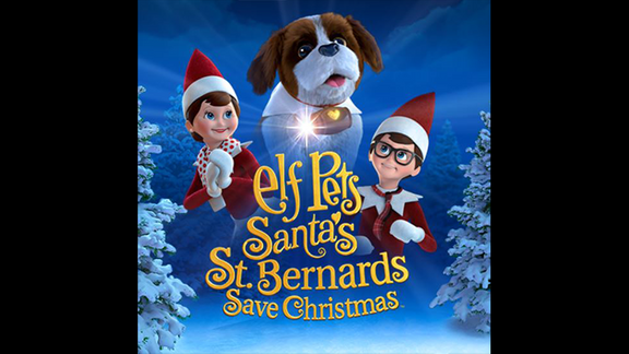 Elf On the Shelf Movie: Elf Pets Santa's St. Bernands Save Christmas