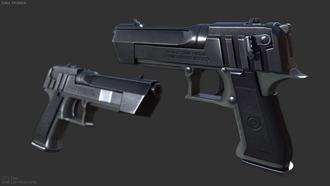 AAA Quality Guns and Firearms Render Beagle jpg