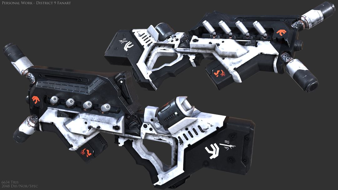 AAA Quality Guns and Firearms Render D9 SMG jpg