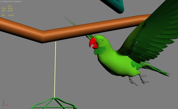 Parrot commercial animation