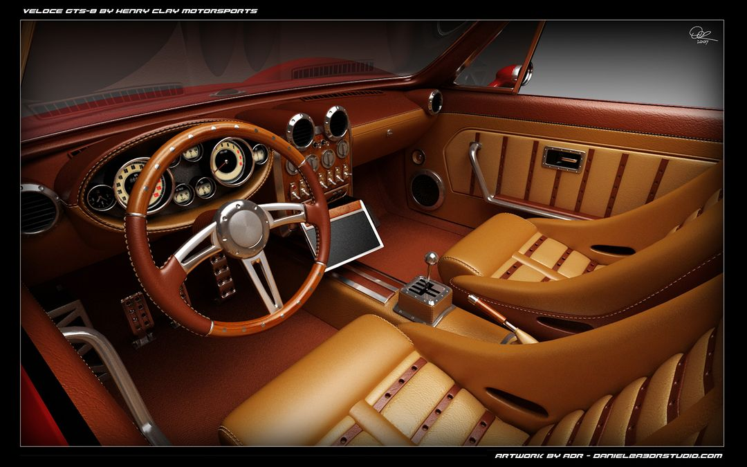 Car Modeling for Still Images and Animations From Concept Art or Blueprints gts interior 1280 01 jpg