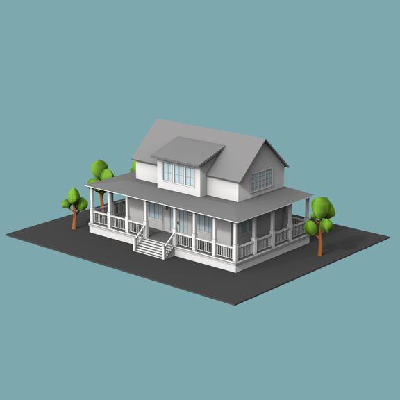 Lowpoly buildings