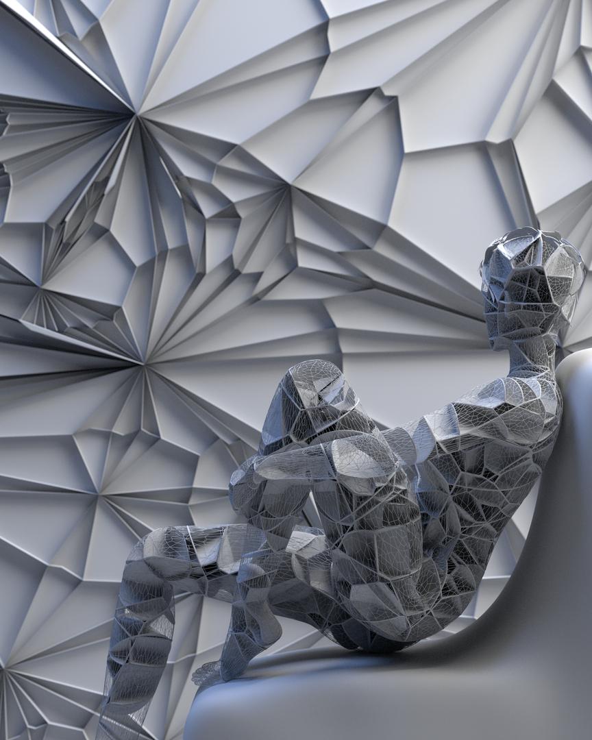 Bionic Character 3d Concept render 1 8bit clay2 png