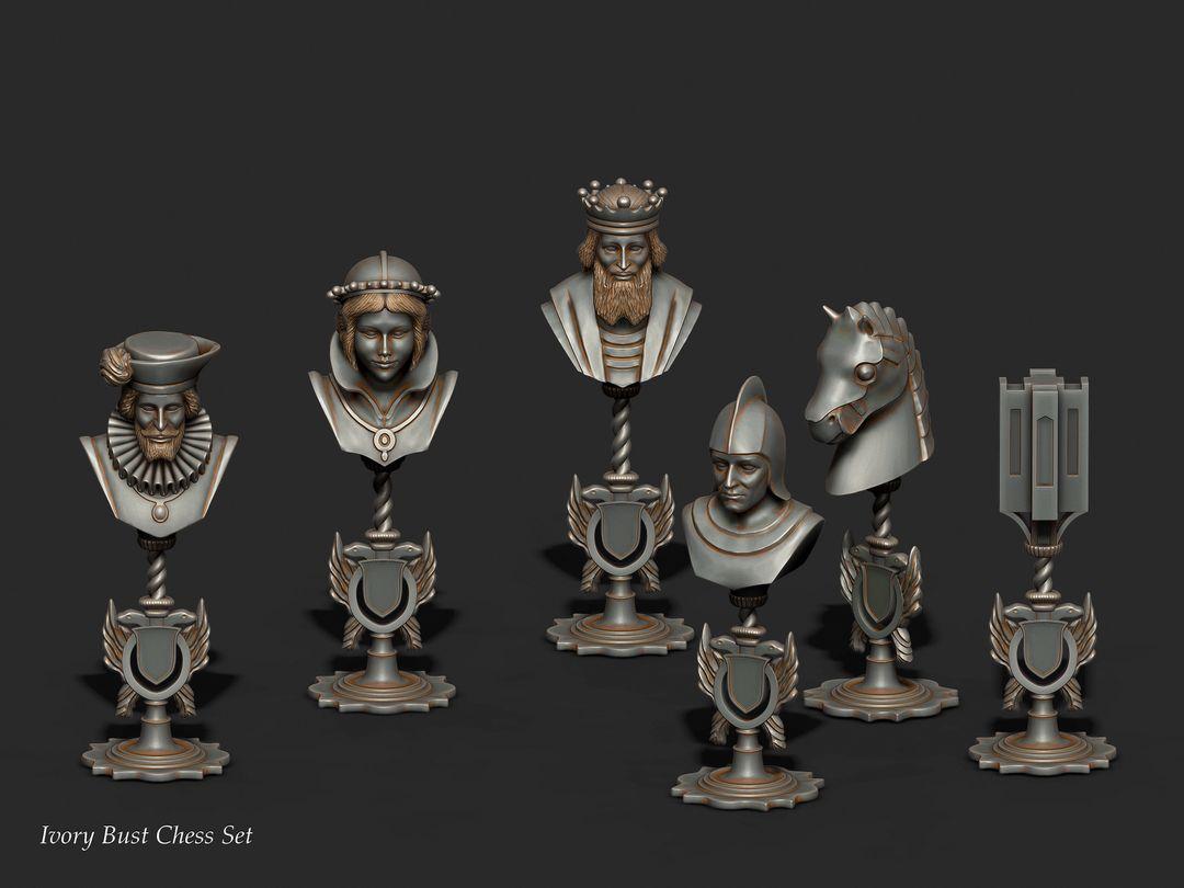 3D Printing,Sculpting(Character,Ornaments,Assets) chess set 1 jpg