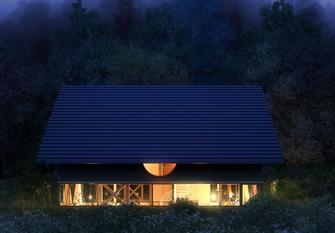 Architectural Visualization EXT House in Balsthal Cam01 NIGHT jpg