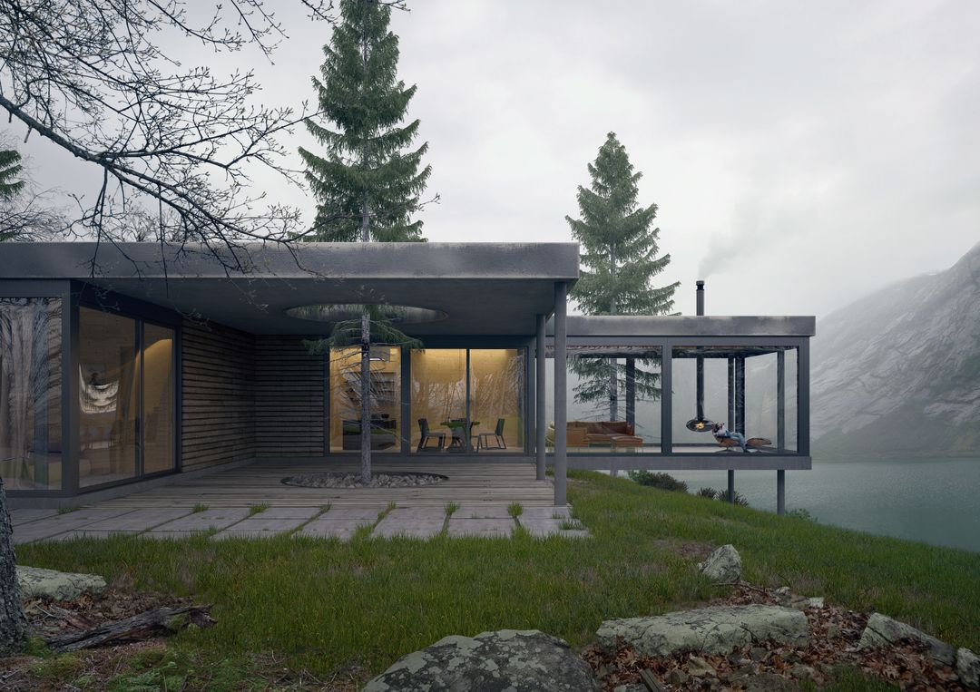 Architectural Visualization House on cliff cam2 3500 jpg