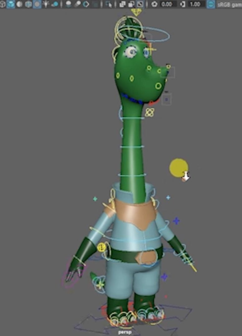 Cartoony rig with joint based facial setup Bamboo Size jpg