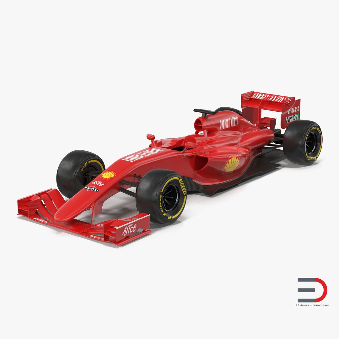 Car Interior and Exterior Modeling Formula One Car Red jpg