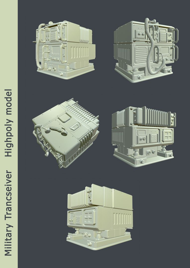 Lowpoly and Realtime assets development for Unreal Engine and Unity HP Transceiver List jpg