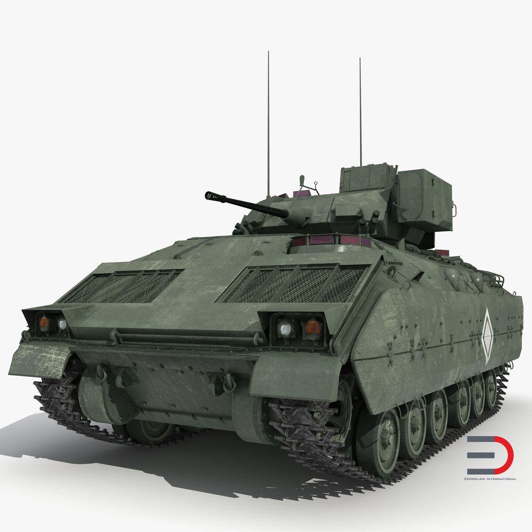 Military Vehicles, Tanks, Weapon Modeling Bradley M2 Green jpg