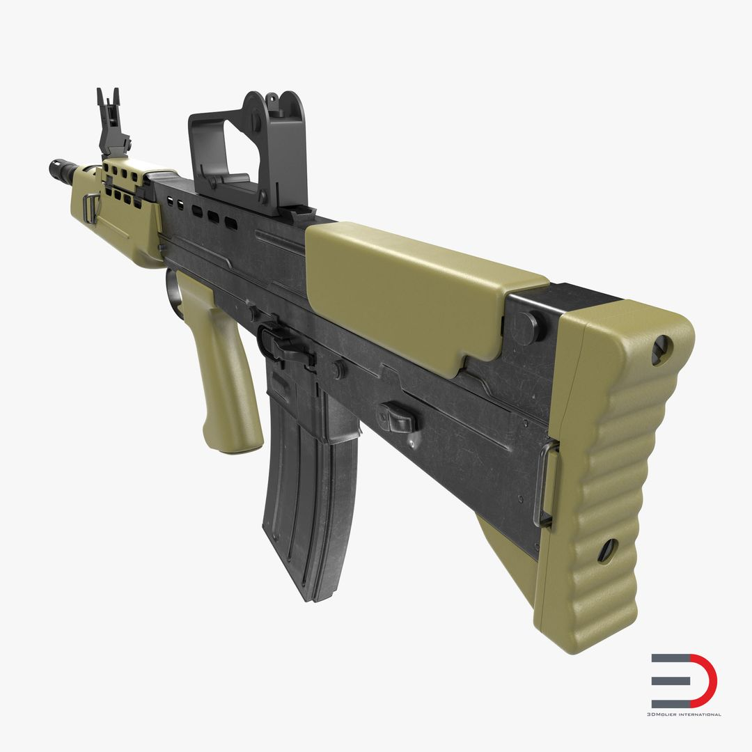 Military Vehicles, Tanks, Weapon Modeling Bullpup Assault Rifle L85A2 jpg