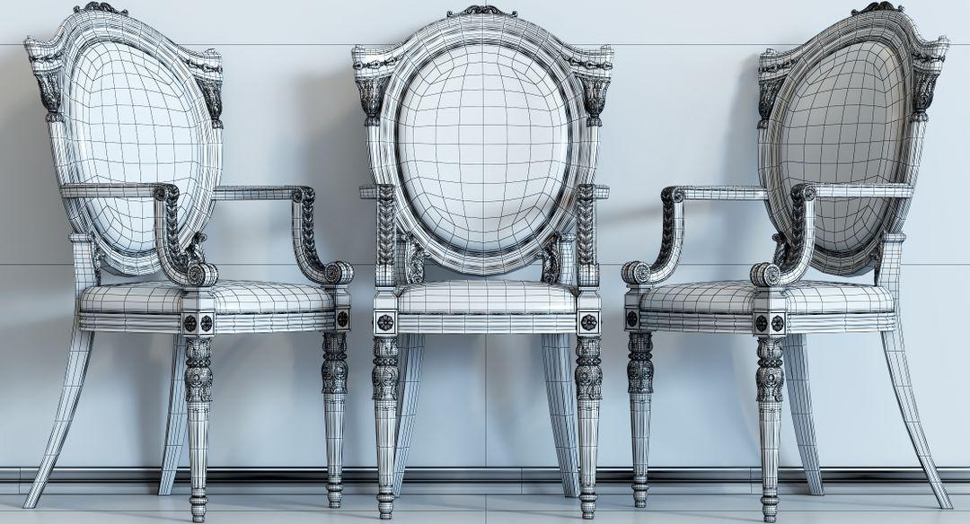 baroque chair N 10 Wire jpg