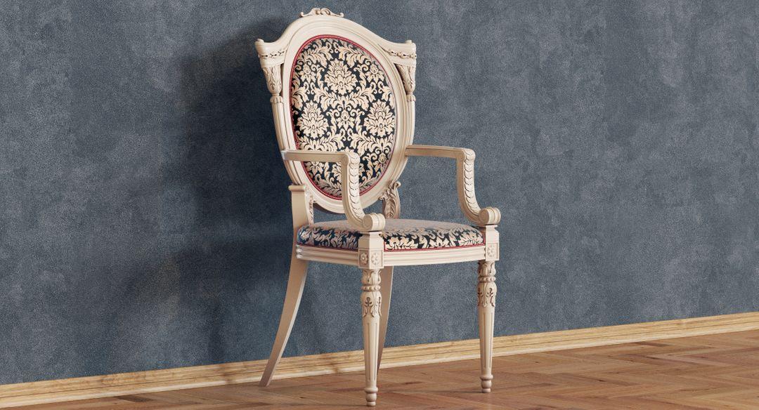 baroque chair N 8 Signature 3 jpg