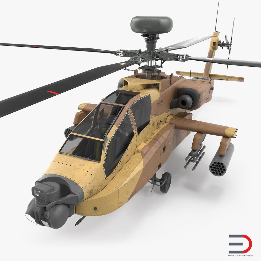 High Quality Realistic Aircraft Modeling AH 64D Apache Longbow Israel jpg
