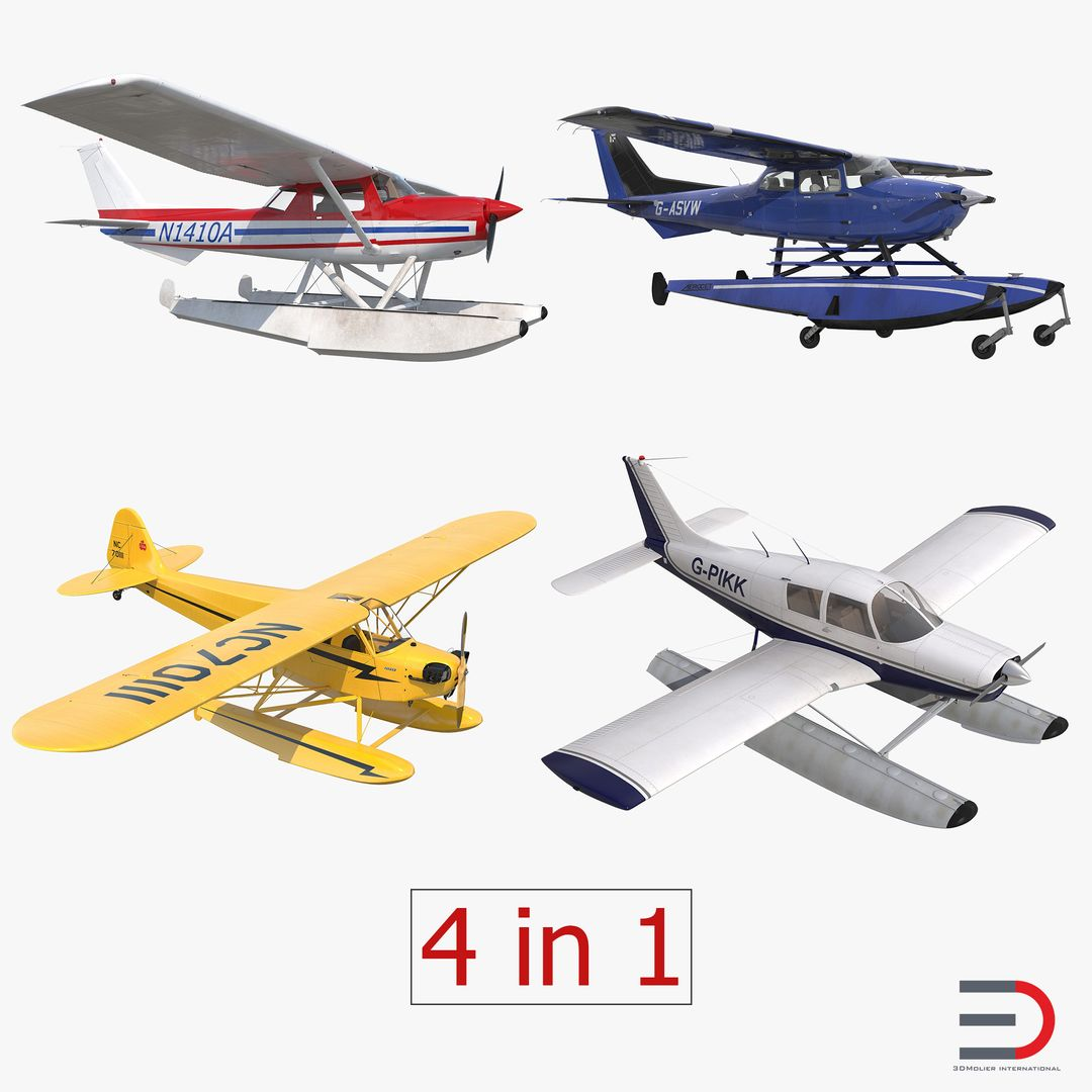 High Quality Realistic Aircraft Modeling Seaplanes Collection 2 jpg