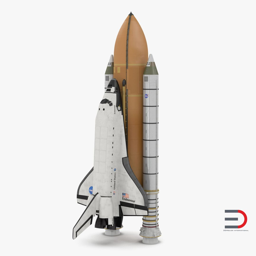 High Quality Realistic Aircraft Modeling Space Shuttle Endeavour With Boosters jpg