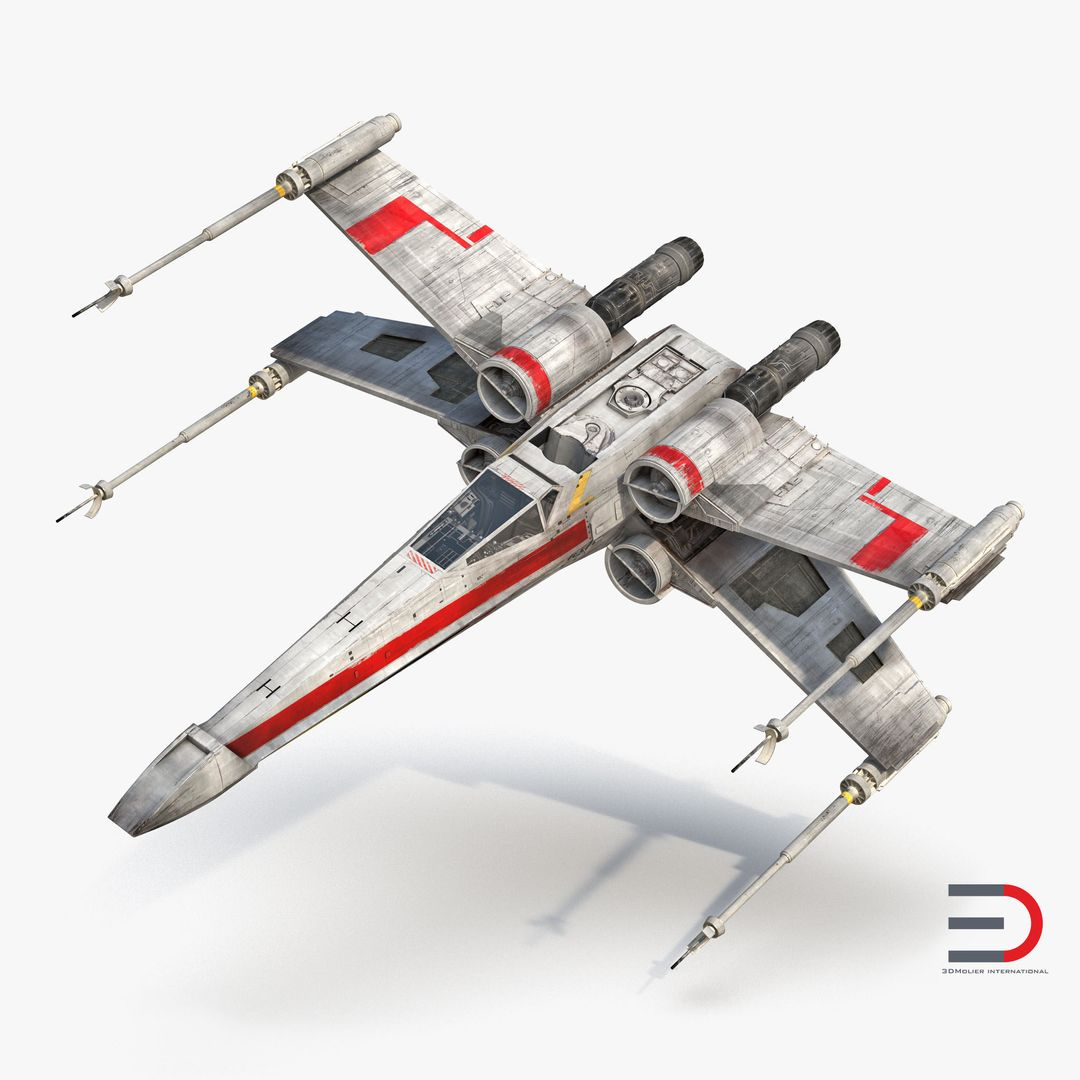 High Quality Realistic Aircraft Modeling Star Wars X Wing Starfighter Red jpg