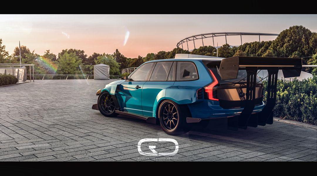 Automotive 3D modeling xc90 final Pos rear jpg