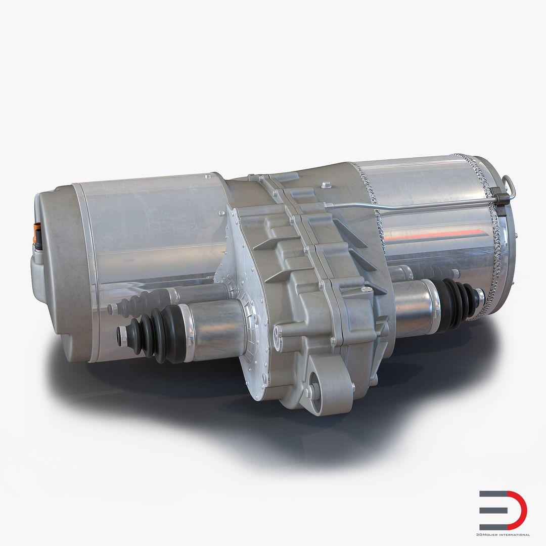High Quality Realistic Engine Modeling TeslaElectricMotor3dmodel01 jpg