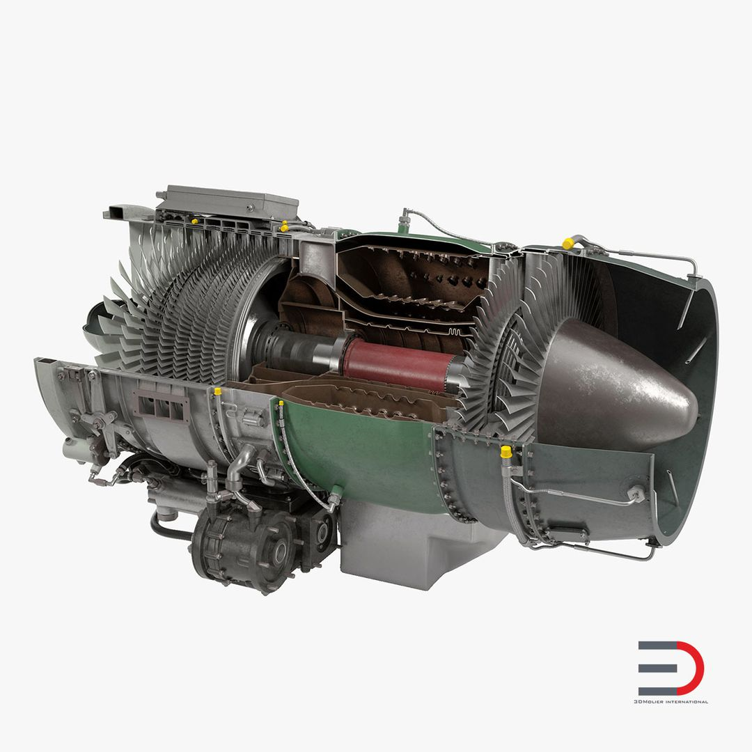 High Quality Realistic Engine Modeling Turbojet Engine 3d model  The one from our engine collection 2 jpg