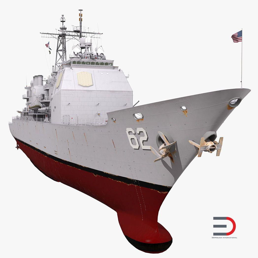 Vessel, Watercraft, Ship Modeling ChancellorsvilleCG62fbx3dmodel001 jpg