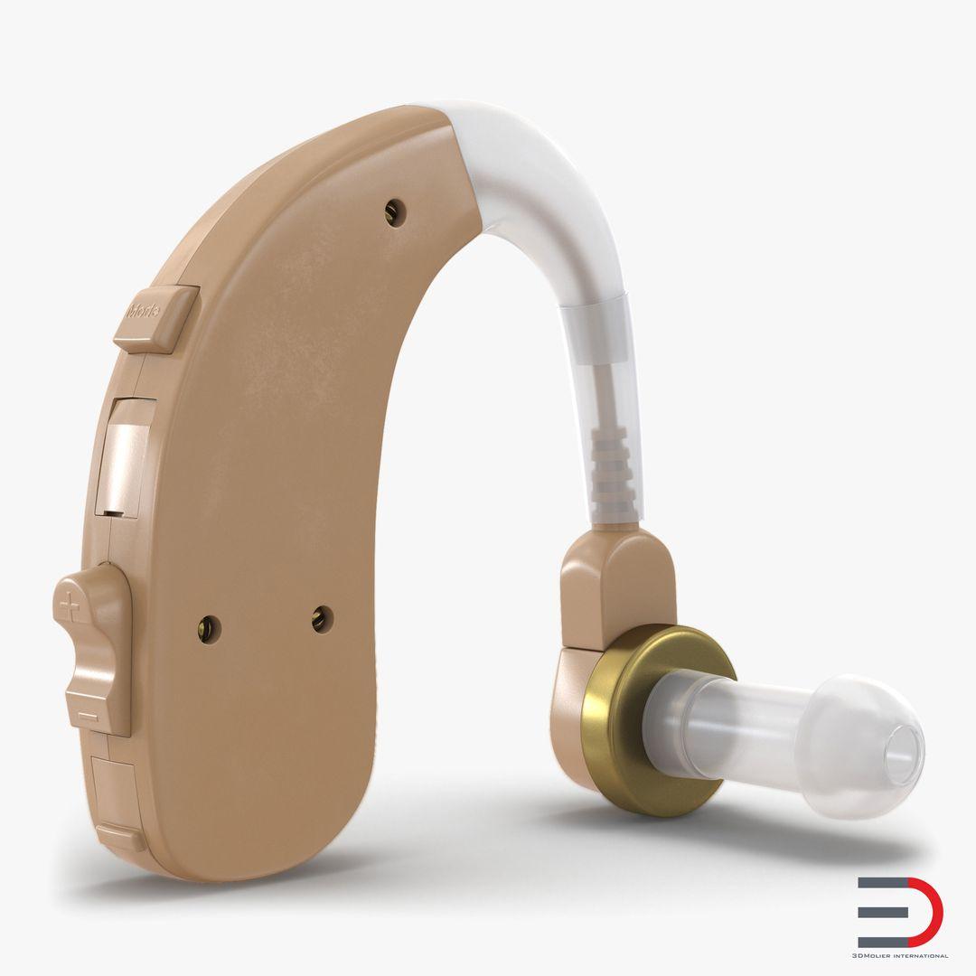 Medical Equipment, Accessories, Human Anatomy Modeling HearingAid3dmodel00 jpg
