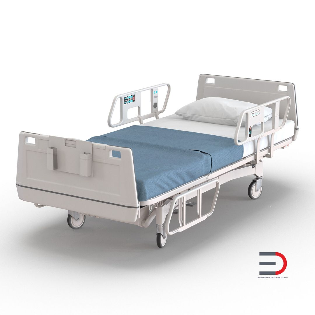 Medical Equipment, Accessories, Human Anatomy Modeling Hospital Bed jpg