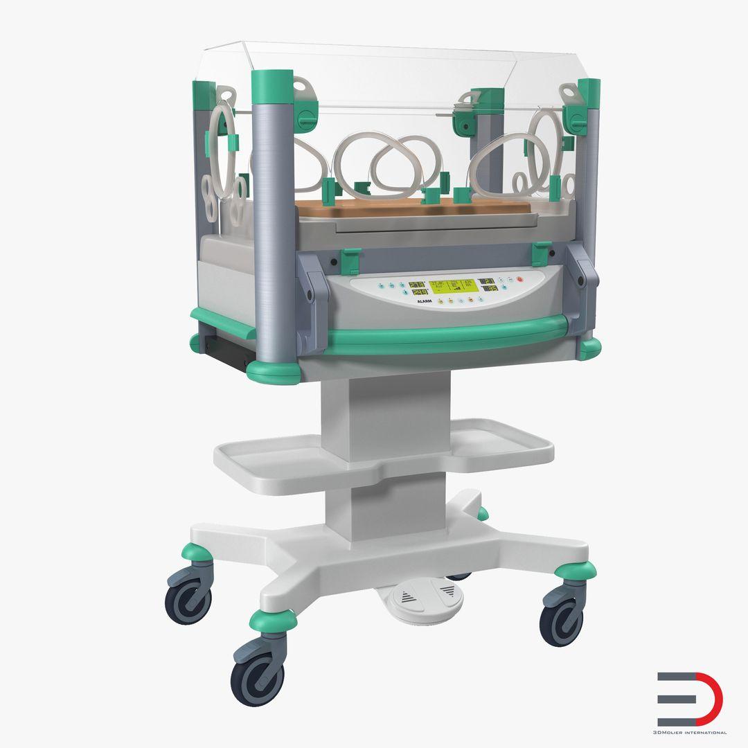 Medical Equipment, Accessories, Human Anatomy Modeling InfantIncubator3dmodel00 jpg