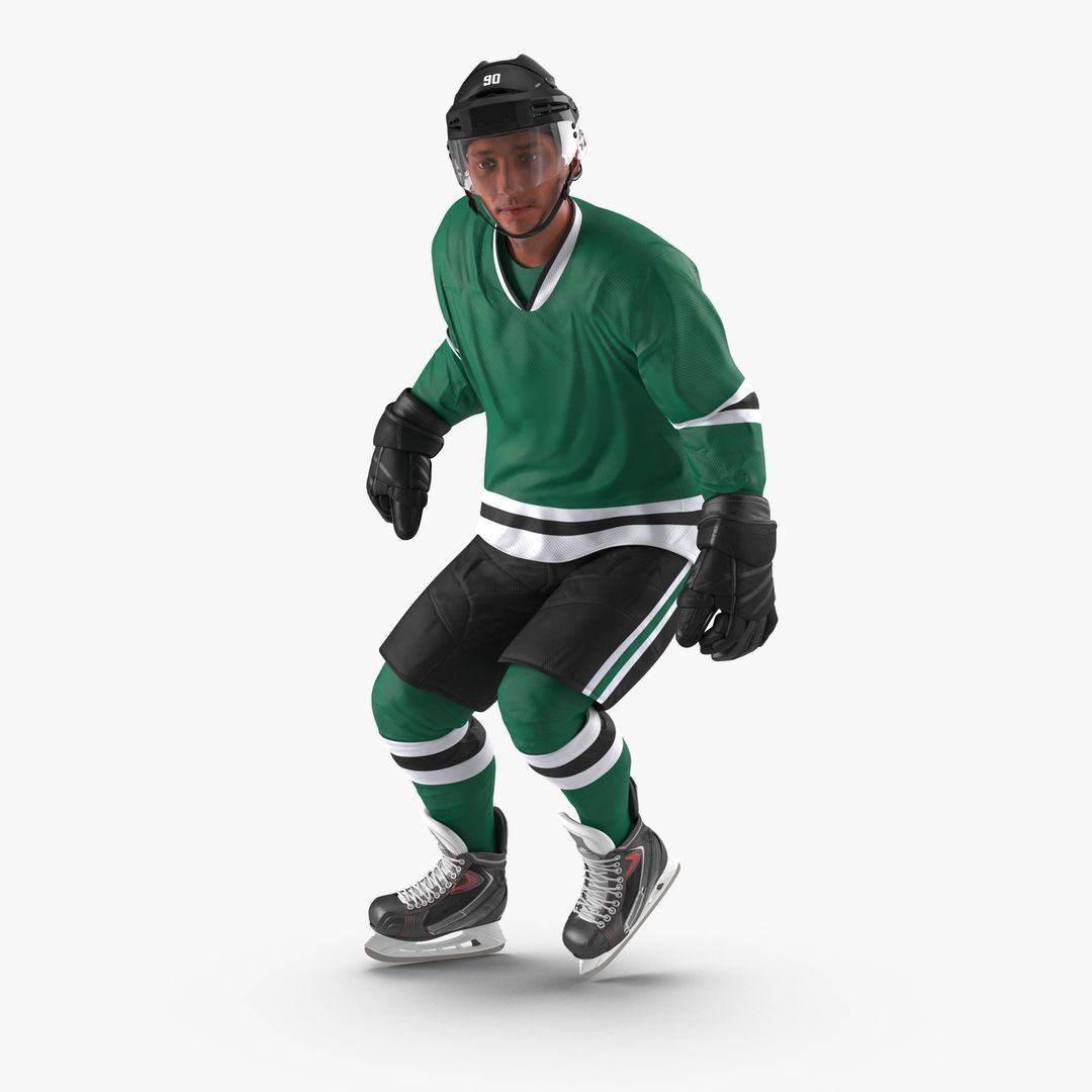 Characters, People Modeling Hockey Player Generic Rigged jpg