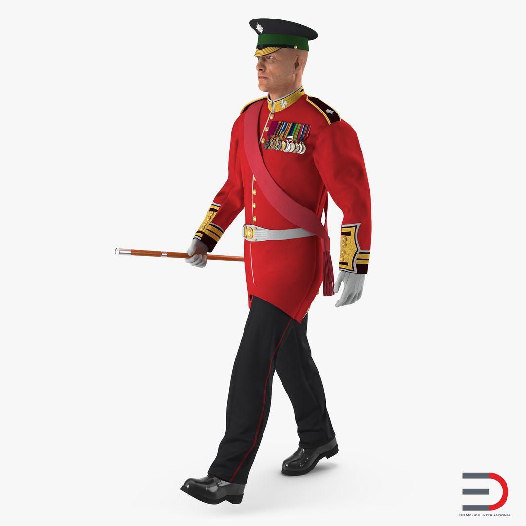 Characters, People Modeling Irish Guard Sergeant Walking jpg