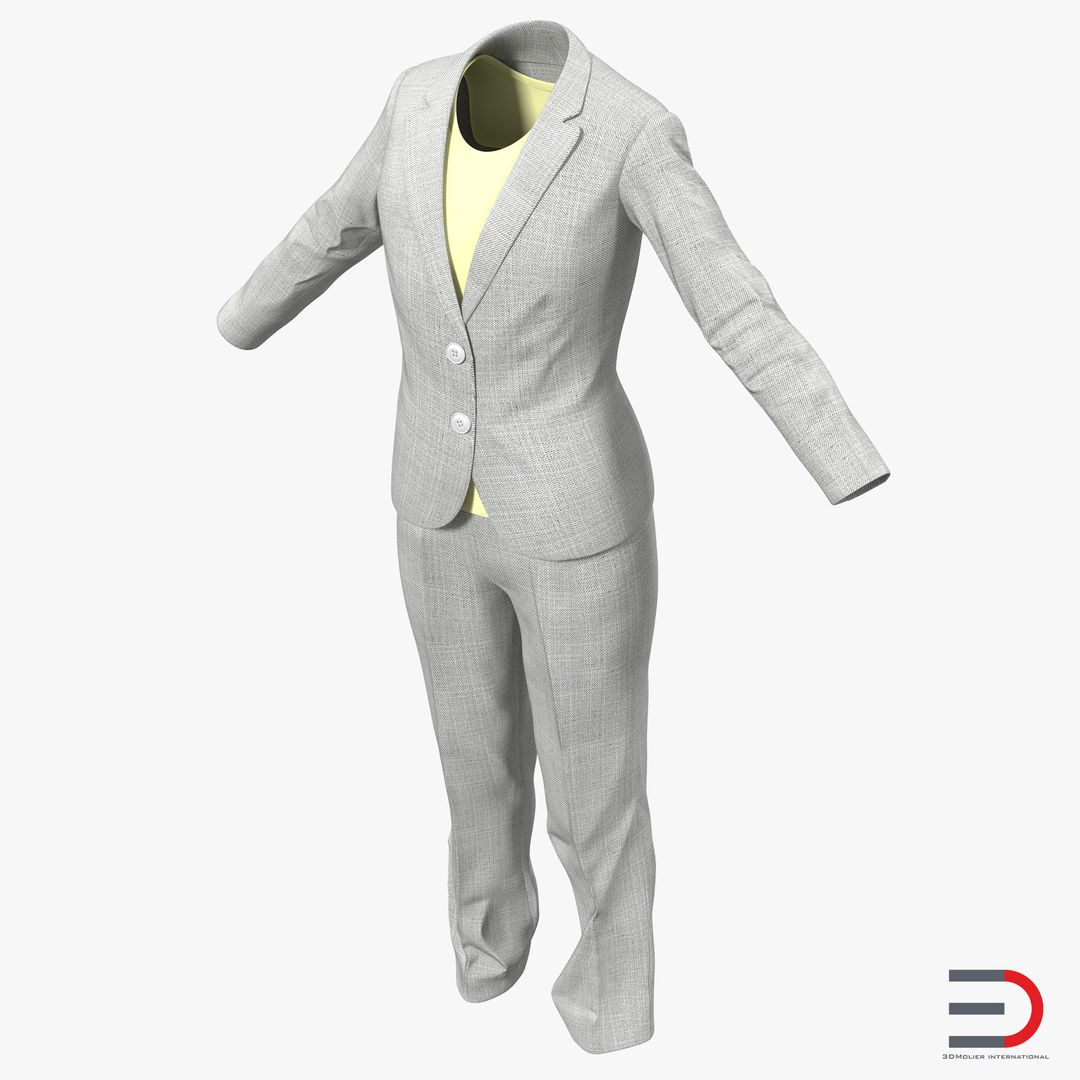 Clothing Modeling 3dmodelofWomenWorkwearSuit00 jpg