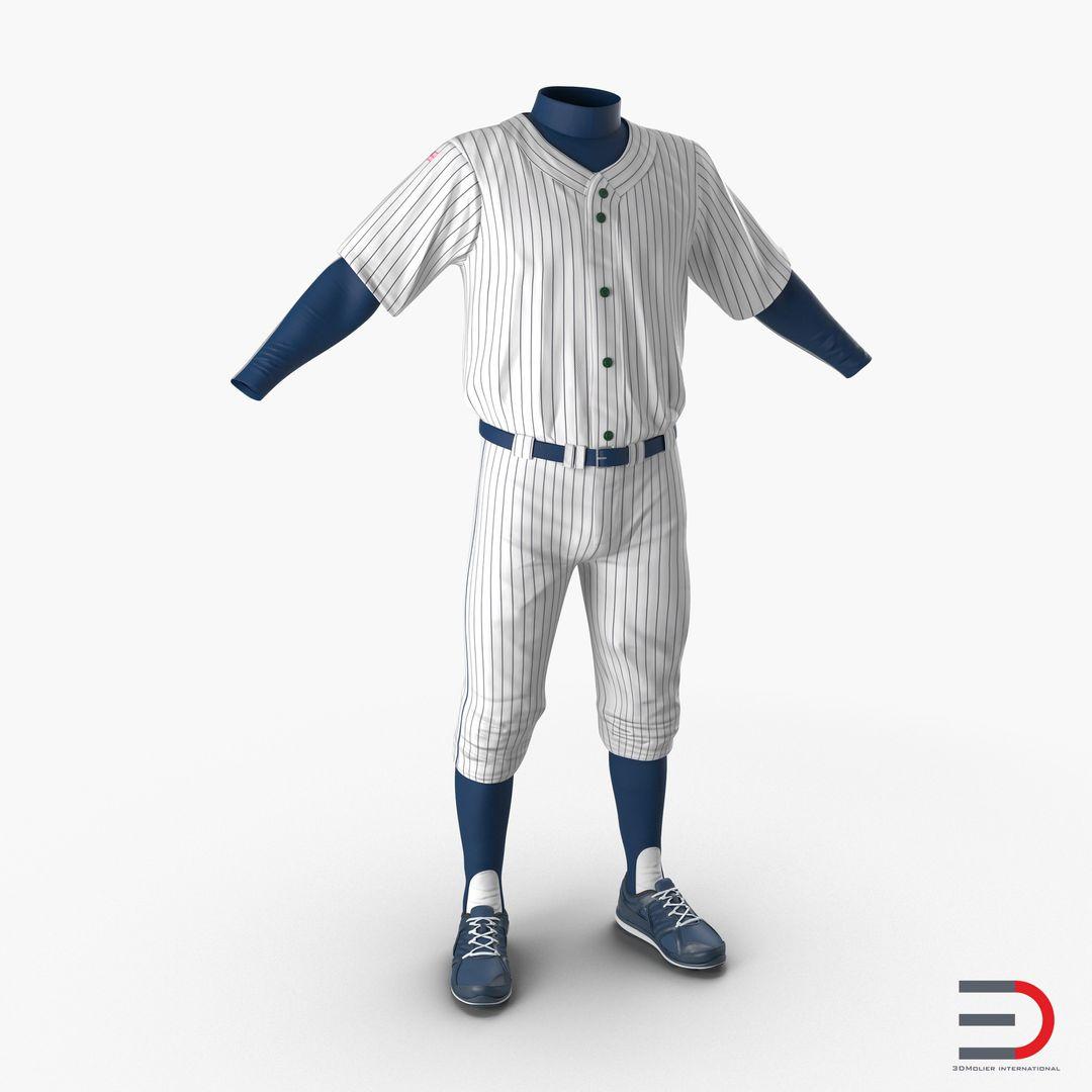 Clothing Modeling BaseballPlayerOutfit3dmodel00 jpg