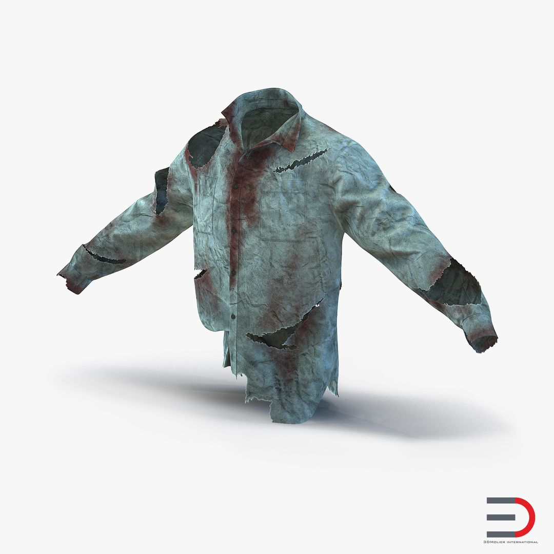 Clothing Modeling BloodyShirt3dmodel00 jpg