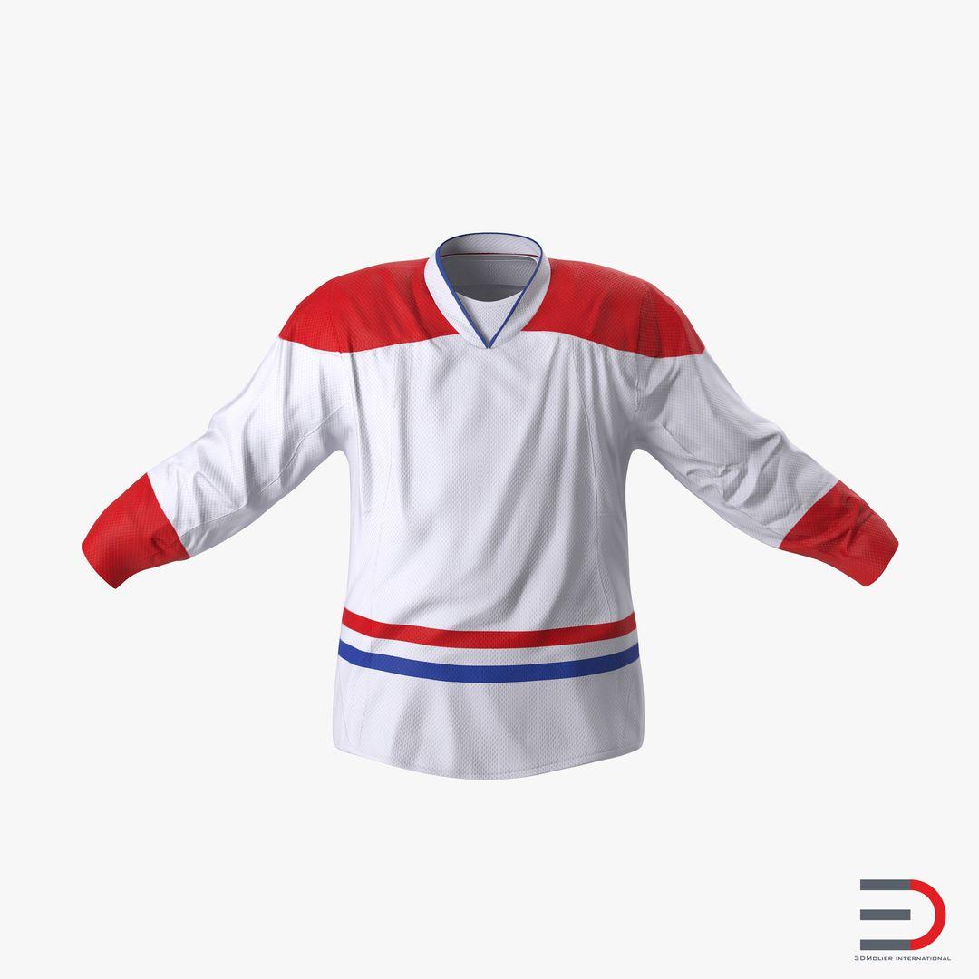 Clothing Modeling HockeyJerseyGeneric3dmodel00 jpg
