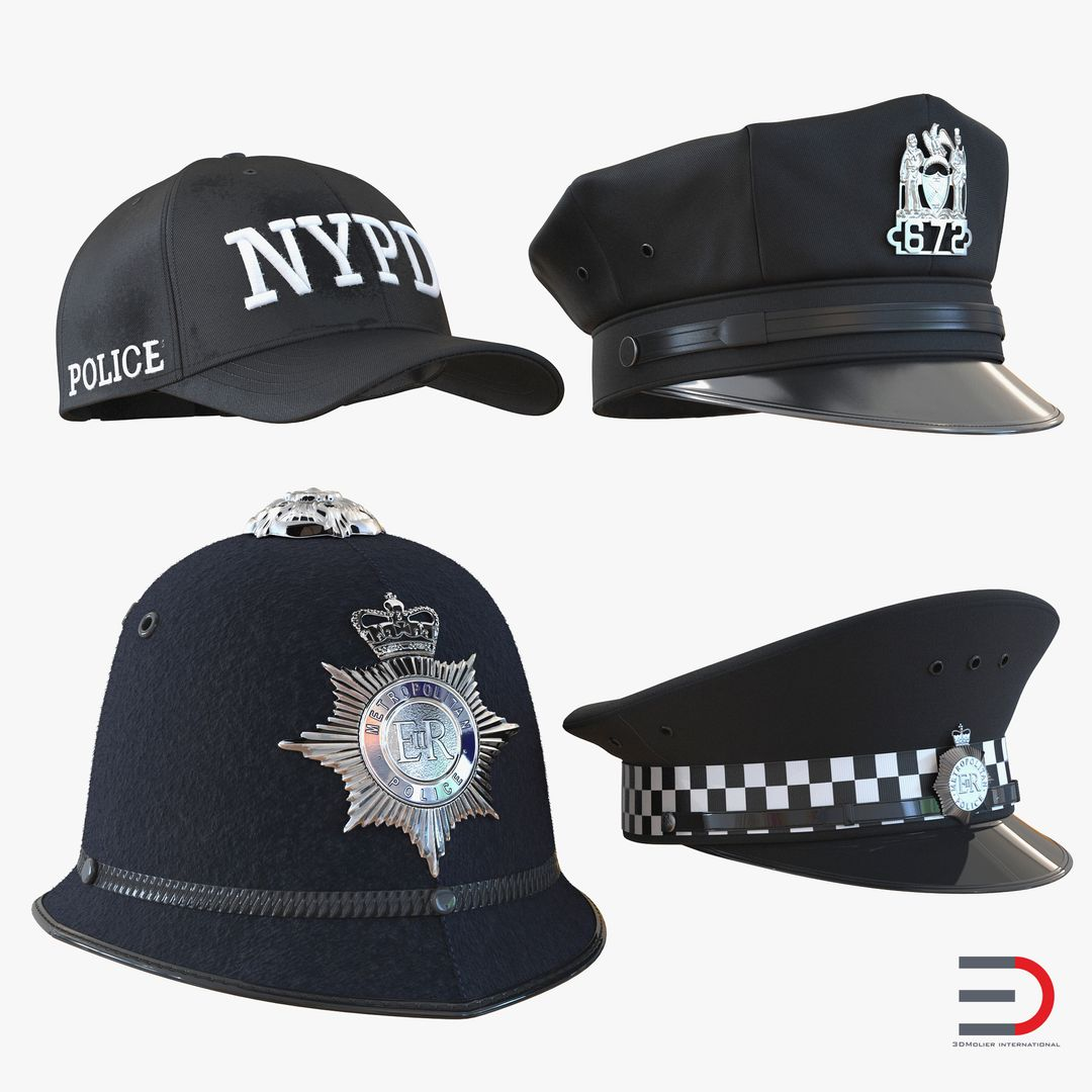 Clothing Modeling PoliceHatsCollection3dmodels01 jpg2eb183f3 1e07 4c4b 825b c1130cbf812eOriginal jpg