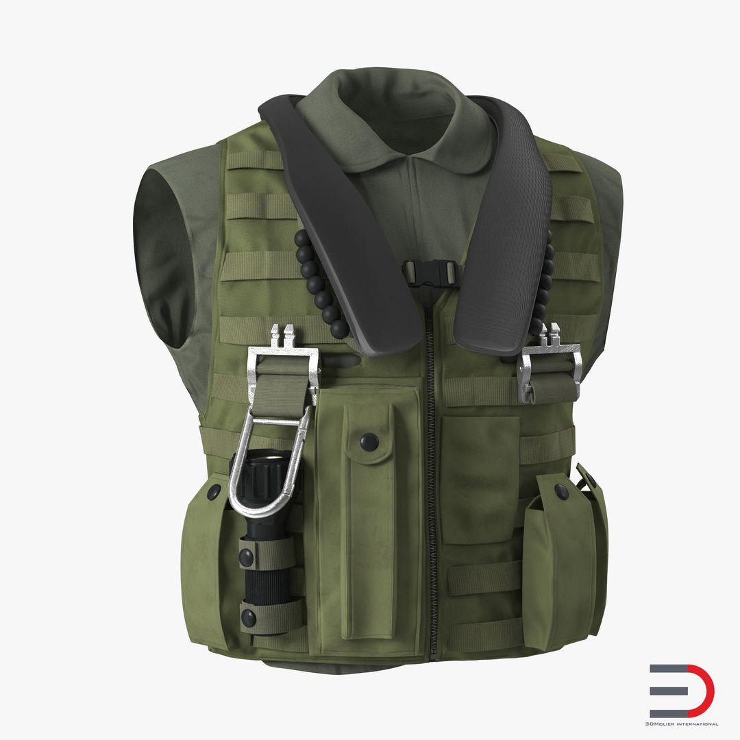 Clothing Modeling USMilitaryVestvray3dmodel00 jpg