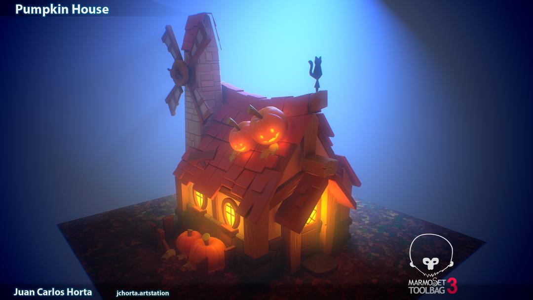 Pumpkin House Night png