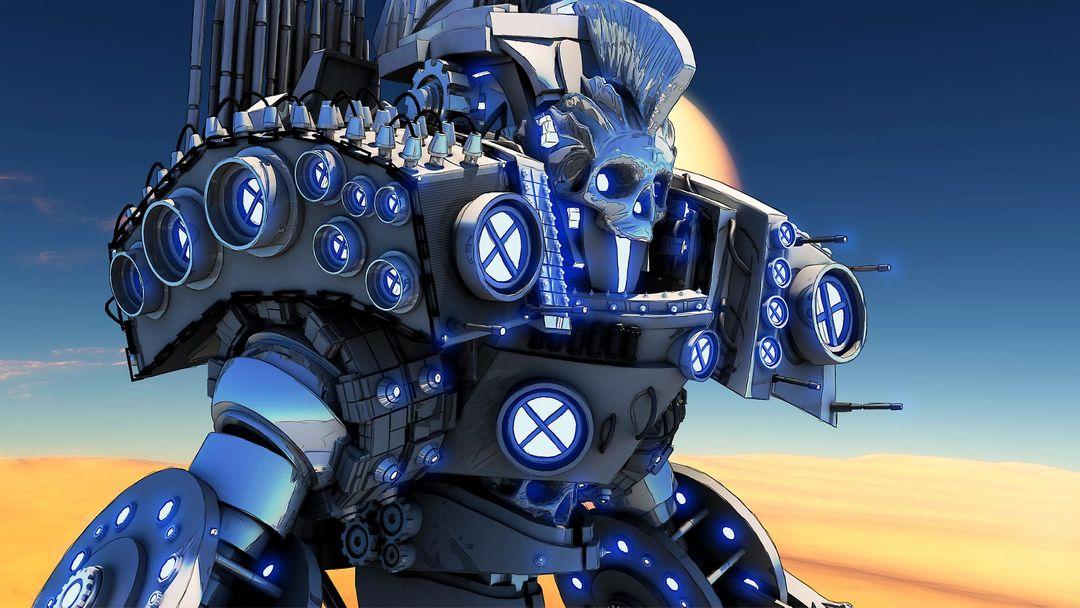 3D Mech Design - The Sentinel maxime galland sentinellescene jpg