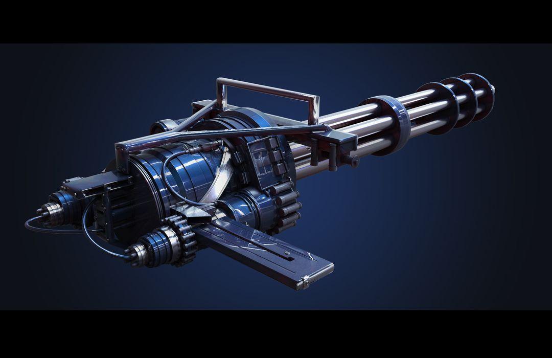 3D Weapon Design - Gatling Gun maxime galland maxime galland gatling first jpg