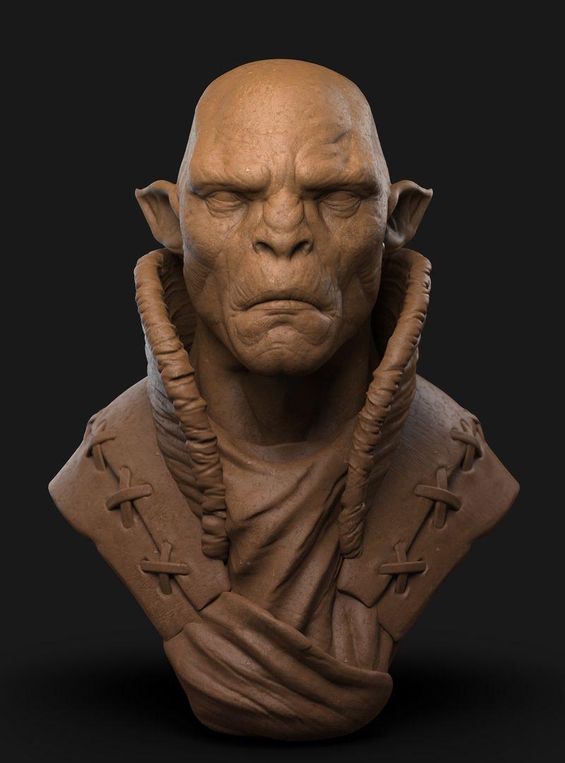 Orc Commander Character Sculpt Orc 01 jpg