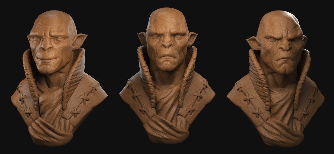 Orc Commander Character Sculpt Orc 02 jpg