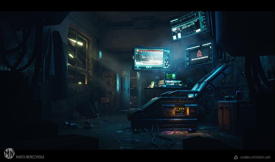 Cyberpunk room - UE4 scene Biohacker Final01 jpg