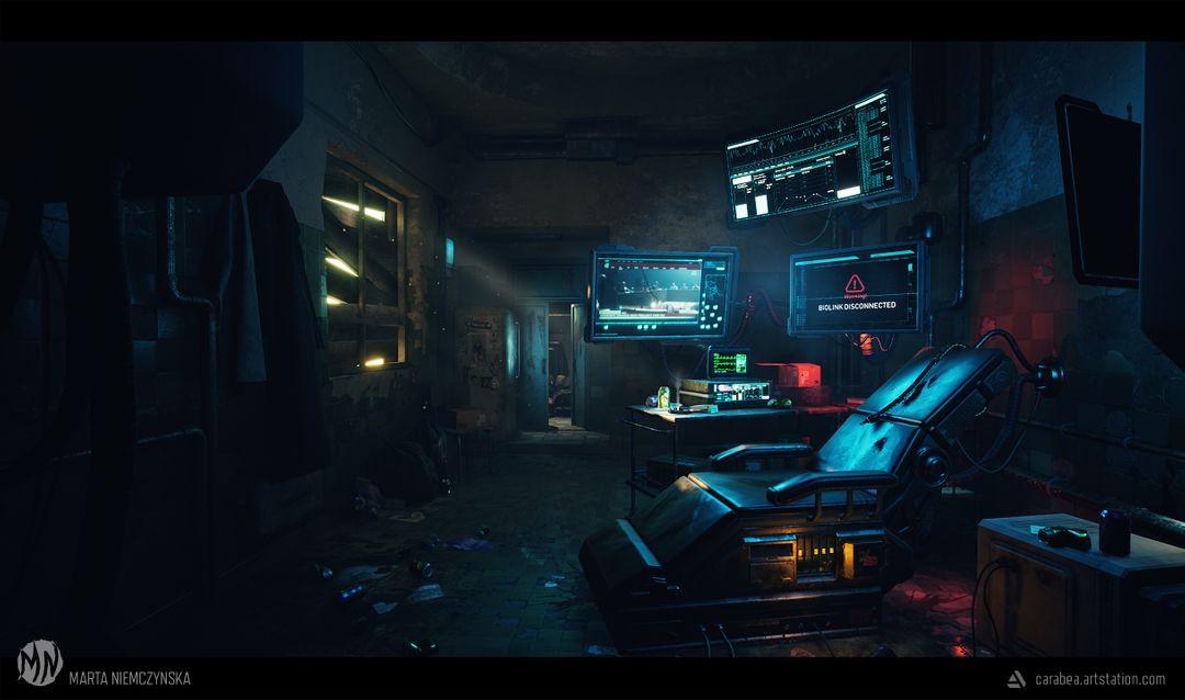 Cyberpunk room - UE4 scene Biohacker Final02 jpg