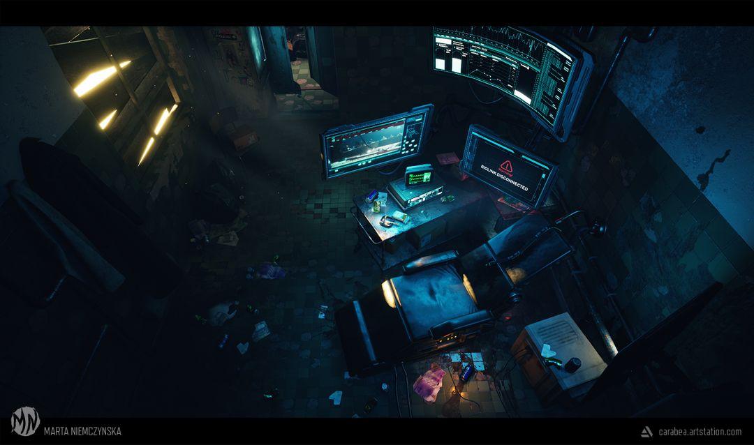 Cyberpunk room - UE4 scene Biohacker Final03 jpg