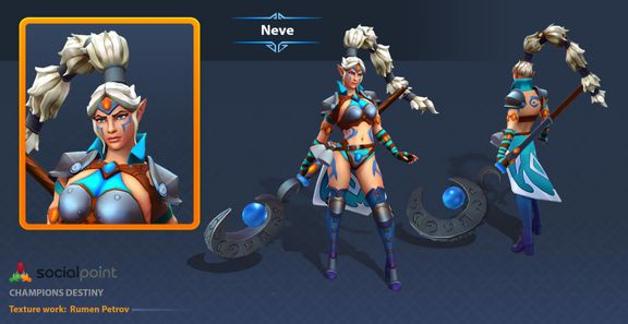 3D Character for Mobile MOBA game 2