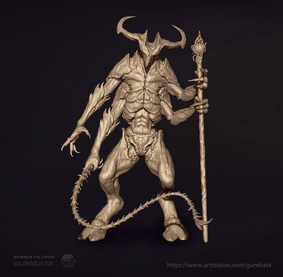 3D Demon sculpt