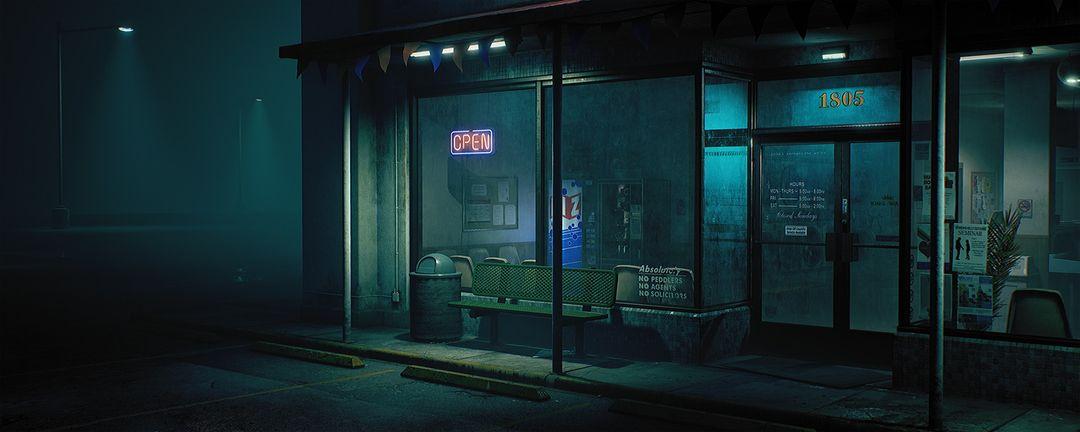 King Wash Laundromat [UE4] clinton crumpler render exterior left 01 jpg