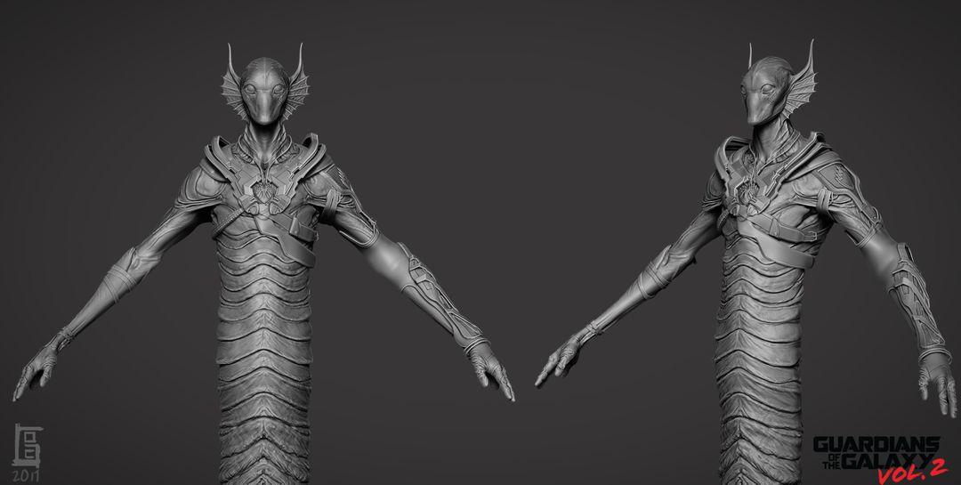 Creature/Character Sculpts For Marvel Studios Guardians of the Galaxy V2 Krugarr 03 jpg
