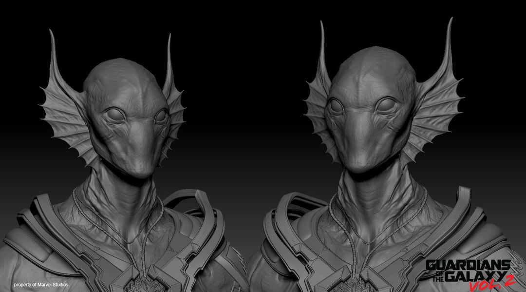 Creature/Character Sculpts For Marvel Studios Guardians of the Galaxy V2 Krugarr 04 jpg