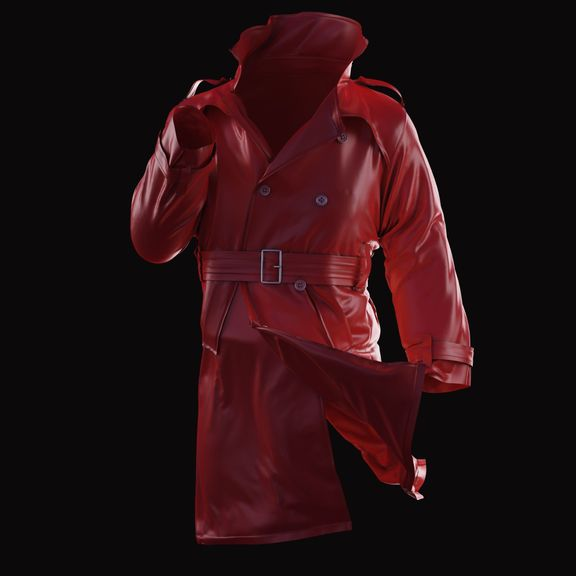 Marvelous Designer Trench Coat